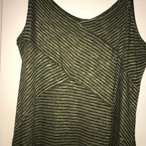 Mossimo olive green & black striped maxi dress NWT